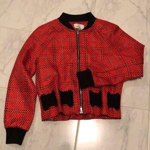 3.1 Phillip Lim orange woven jacket. Like new!